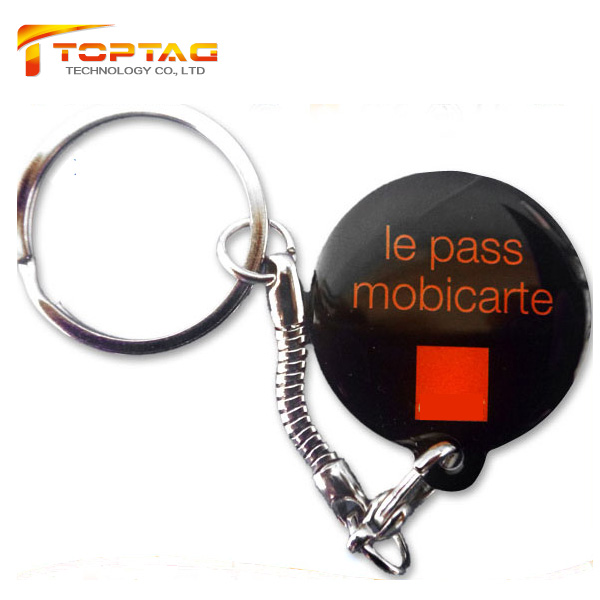 Custom 125Khz Epoxy T5577 RFID Key Ring Tag