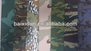 Camouflage fabric T/C 65/35 21x21 100x52 ripstop