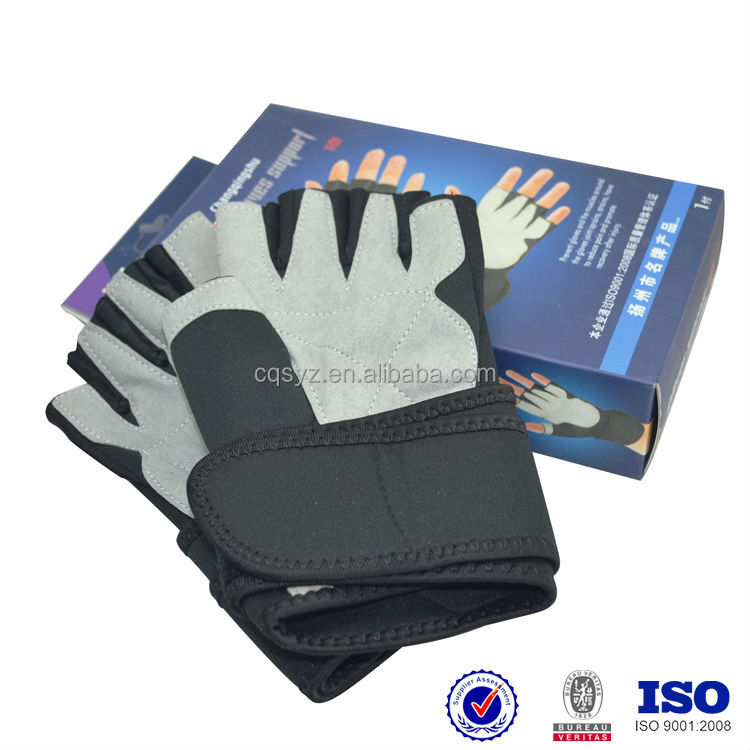 wholesale neoprene fabric Black Anti-slip Short Finger professional Sports Gloves China customed cycling gloves importers in uk