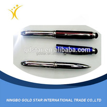 2015 Promotion Wholesale function custom novelty Blue black Led Lighted Pen