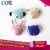 4500mah powerbank, cute portable phone charger with hand warmer