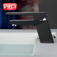 China supplier bathroom mixer UPC basin faucet black color