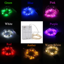 1.5M-3M-4M Waterproof 3AA battery box 20/30 pcs bulbs Purple/Pink led string light,use for wedding favor