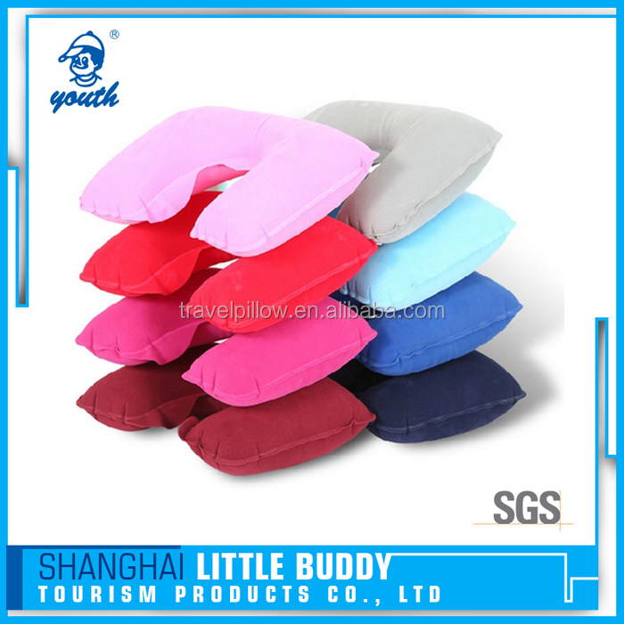 PVC inflatable wholesale travel u shape pillow car neck pillow air inflatable support smart customize