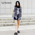 CX-G-B-55 High Quality New Fashion Grey Short Real Fox Fur Gilet Vest