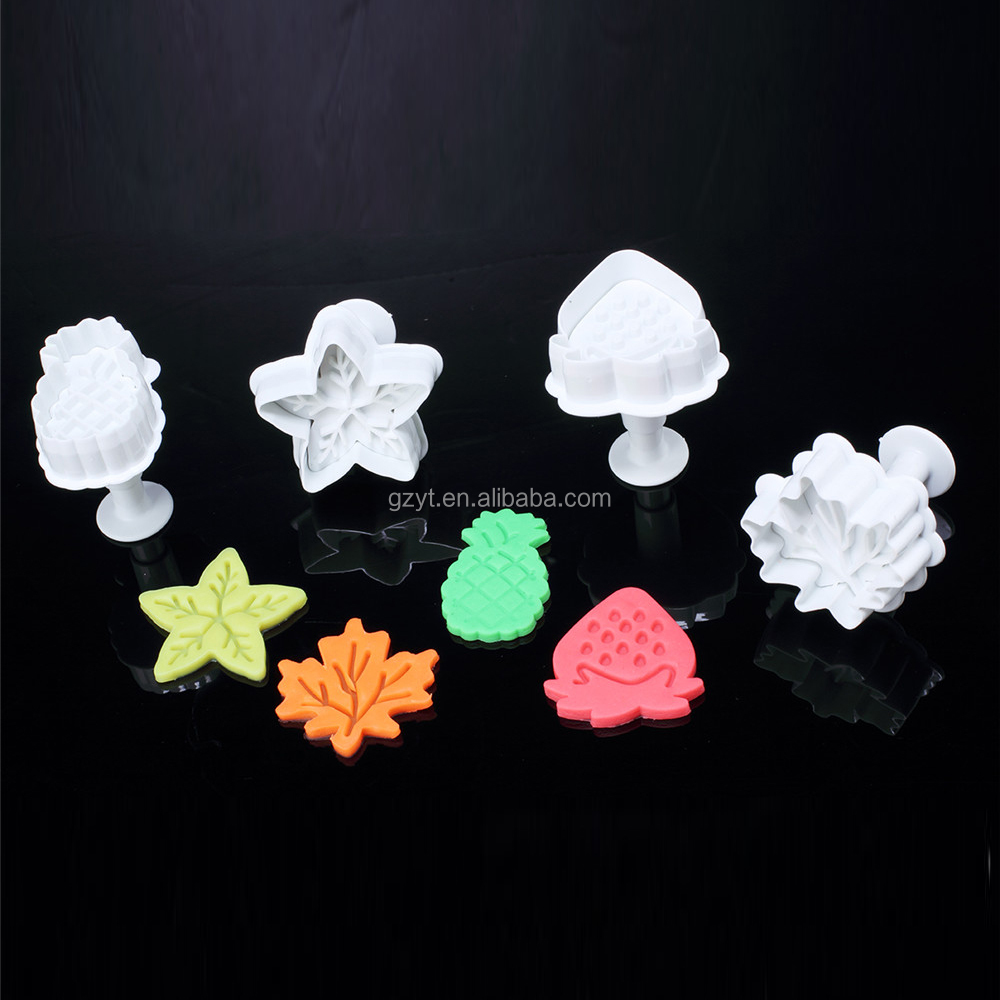Plastic Fruit Shaped Cake Decoration Fondant Cookie Plunger Cutters