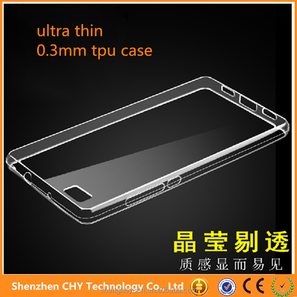 china supplier tpu silicone Crystal Clear Transparent Soft phone case cover for huawei ascend p8