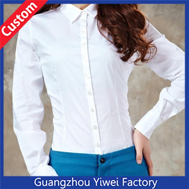 Custom Cheap High Quality Long Sleeve Shirt Women Woven