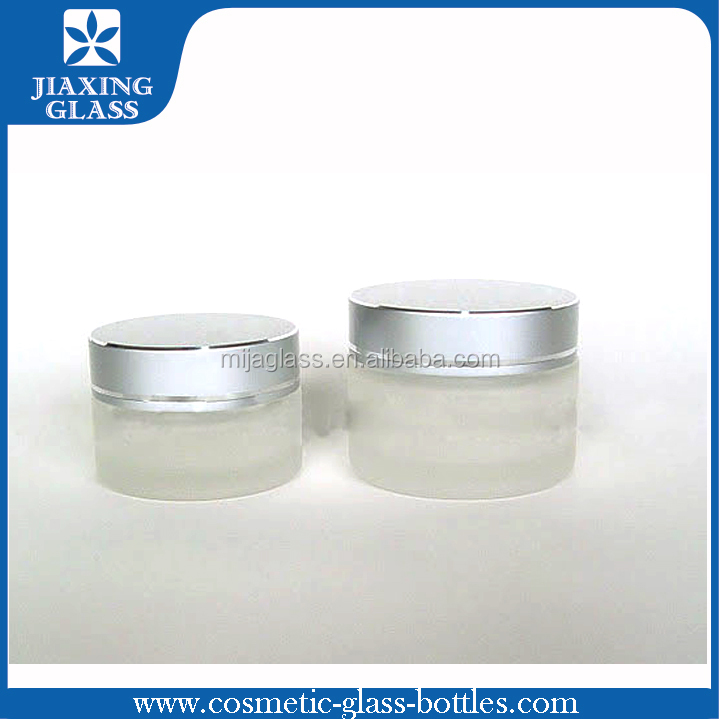 Facial Mask Cream Pack 100g Matte Finish Cream Jar and Brown Amber Glass Bottle/Container