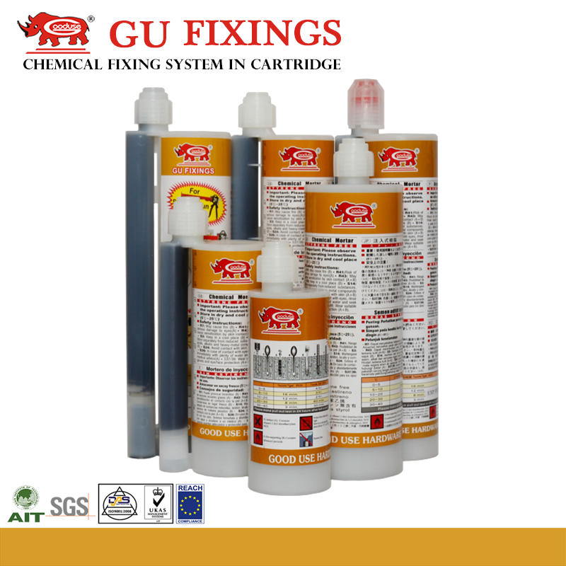 Fast building construction epoxy steel adhesive grout