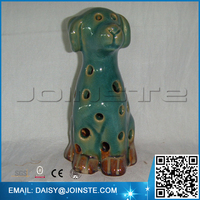 Home decorative green ceramic dog