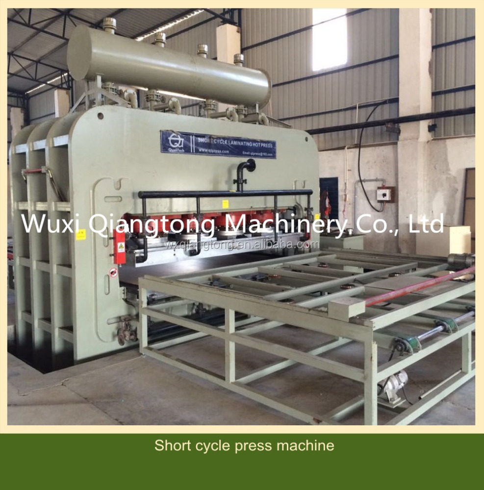 MDF melamine embossed laminating press machine