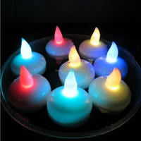 Multi-colored floating led candle light