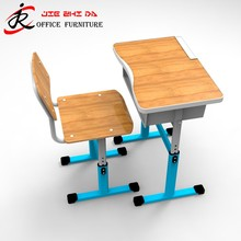 Wholesale School Tables/ Student desk and chair/ Single Double Classroom furniture
