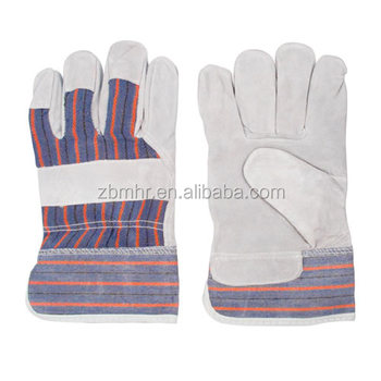 Brand MHR Full palm cow split leather gloves from MHR factory