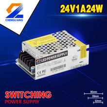 China supplier 90-245VAC Input voltage Single output 24v 1A24W LED switching power supply or nonwaterproof transformer