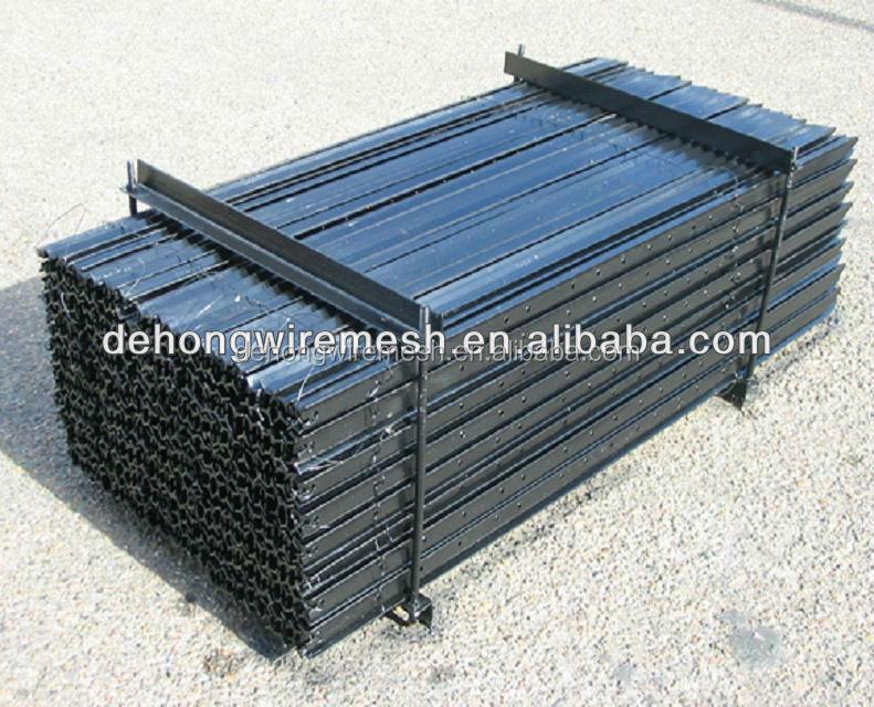 Australian steel y post star picket black painted or