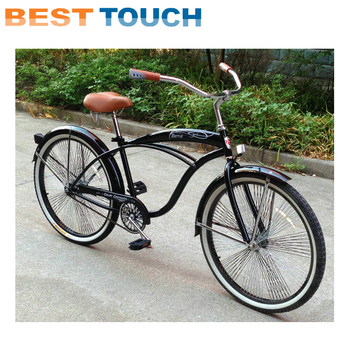 Women Men 24 26 Inch Orange Green Yellow Red Blue White Black Beach Cruiser Bicycle Bike