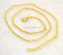 NC009 Huilin Jewelry rhodium <strong>Silver</strong> Gold plated Adjustable link necklace chain for Necklaces