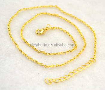 NC009 Huilin Jewelry rhodium Silver Gold plated Adjustable link necklace chain for Necklaces