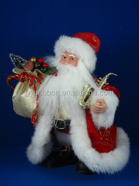 Christmas Decoration Santa Claus with Gifts Bag and cotton garment for children