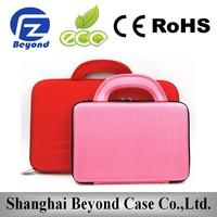 Wholesale EVA Custom laptop leather bag with trolley strap