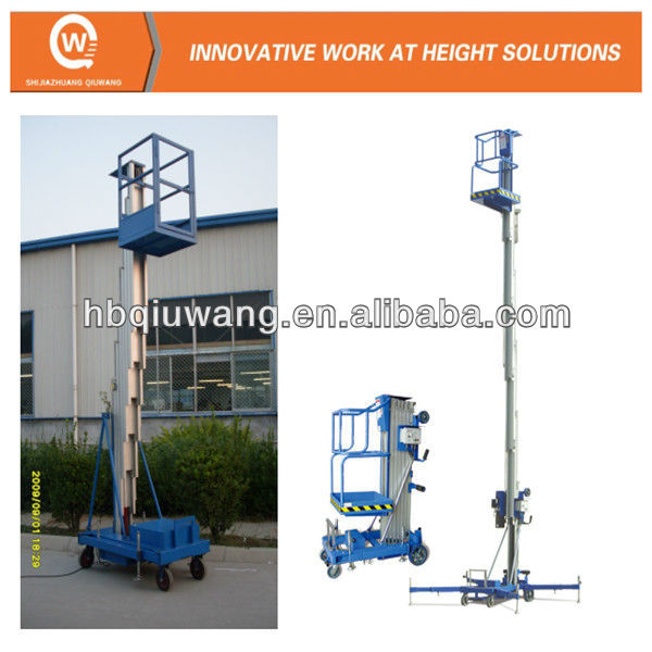 Easy loading one person hydraulic elevated work platforms
