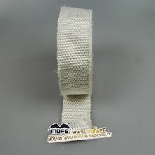 White exhaust insulating header wrap for car