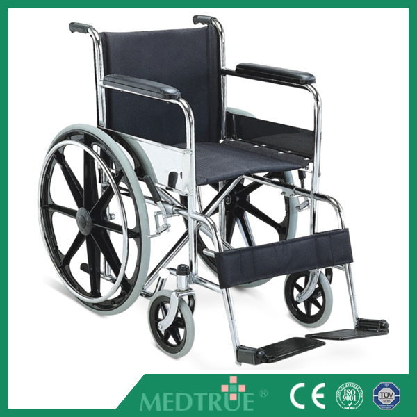 Cheap Price Medical Steel Wheel Chair with CE/ISO Certification (MT05030002)