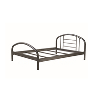 Cheapest modern simple fancy iron bed for bedroom