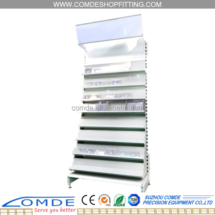 super store display racks supermarket shelf for CD