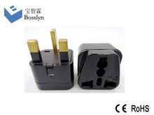 Design top sell power plug convert eu us au to uk plug