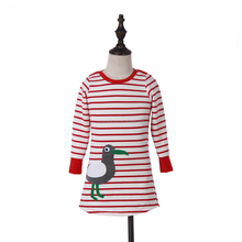 Wholesale Red White Striped Baby Girls Dress
