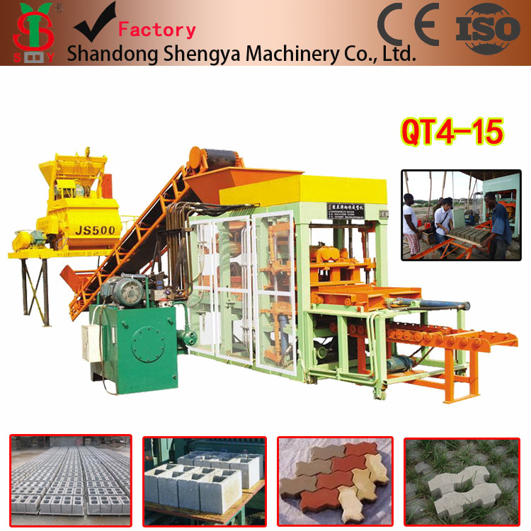 QT4-15 widely used cement brick making machine for sale in usa used automatic concrete block making machine for sale