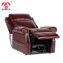French country style extra large red sectional leather recliner sofa