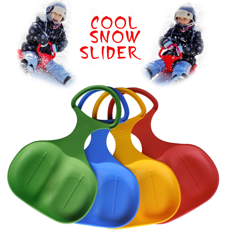 2016 Outdoor Kids and Adult Xmas Winter Promotion Plastic Snow Slider Sledge Sleigh Sled