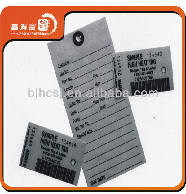 high quality custom paper clothing label design