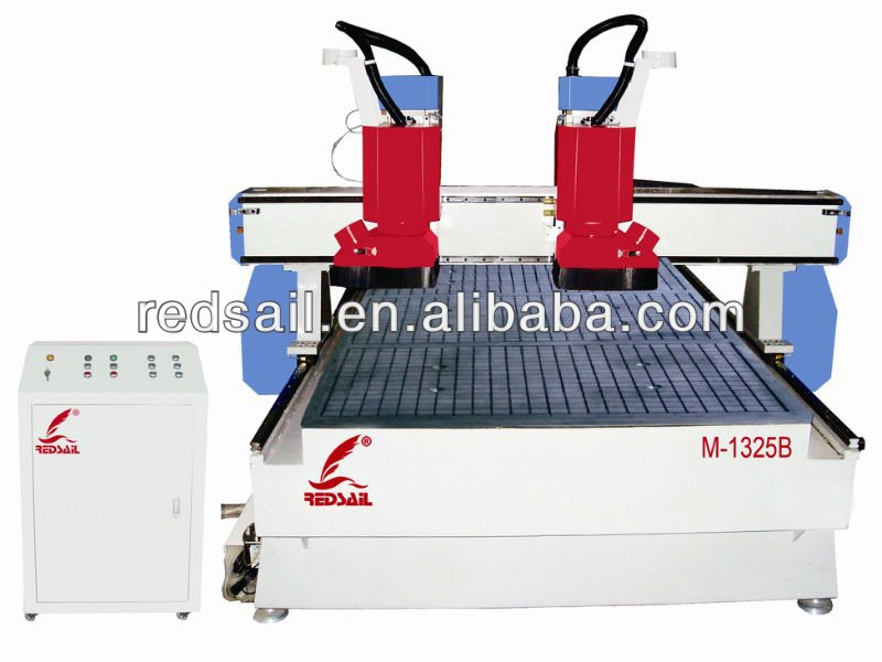 Redsail CNC Woodworking Router Machine M-1325B with Double Heads