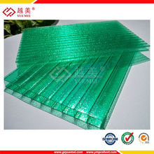 yuemei polycarbonate sheet factory 4mm twin wall polycarbonate hollow sheets price for roofing