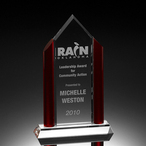 Custom blank plaque crystal glass trophy award