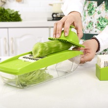New Adjustable Mandoline Slicer 4 Blades With Container