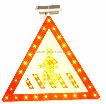 RSG International Road Safety Traffic Warning Signs Solar Powered Led Traffic Aluminium Sign