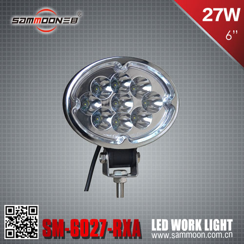 oval 27w cree led machine work light, led construction light, off road vehicle light_SM-6027-RXA