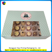 Hot selling square muffin cupcake packaging