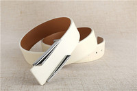 Newest fashion white leisure Genuine Cow Leather Waist Belt for men