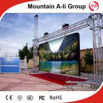 Shenzhen Mountain A-Li p6 SMD 3in1 outdoor full color rental led advertising board,stage rental led display screen