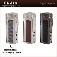 Best High-end Multi-fonction four flame cigar lighter with cigar cutter and punch