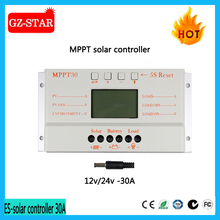 LCD LED display 10A 20A 30A 12v 24v solar dc voltage controller regulator