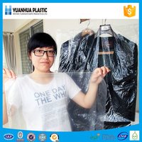 Pe custom disposable plastic clear garment bag made in china