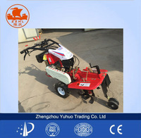 powered soil preparation machine with ridger